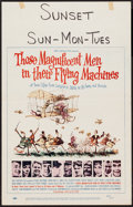 "Movie Posters:Adventure, Those Magnificent Men in Their Flying Machines & Others Lot(20th Century Fox, 1965). Window Cards (3) (14"" X 22""). Adventur...(Total: 3 Items)"