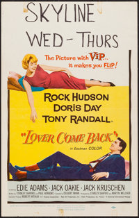 """Lover Come Back & Others Lot (Universal International, 1962). Window Cards (3) (14"""" X 22""""). Comedy. ... (T..."""
