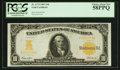 Large Size:Gold Certificates, Fr. 1172 $10 1907 Gold Certificate PCGS Choice About New 58PPQ.. ...