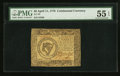 Colonial Notes:Continental Congress Issues, Continental Currency April 11, 1778 $8 PMG About Uncirculated 55EPQ.. ...