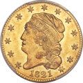 Early Half Eagles, 1821 $5 BD-1, High R.6, MS63+ PCGS Secure....