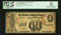 National Bank Notes:West Virginia, Martinsburg, WV - $1 Original Fr. 382a The Peoples NB Ch. # 2144. ...