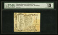 Colonial Notes:Massachusetts, Massachusetts December 7, 1775 36s Contemporary Counterfeit PMGChoice Extremely Fine 45.. ...