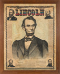 Political:Memorial (1800-present), Abraham Lincoln: Colorful Memorial Wall Chart. ...