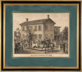 Political:Posters & Broadsides (pre-1896), Abraham Lincoln: Lithograph of Springfield Home. ...