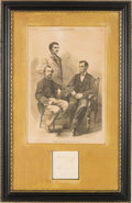 Autographs:Statesmen, [Abraham Lincoln]: Nicolay and Hay Autograph Display. ...