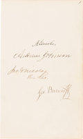 Autographs:U.S. Presidents, Abraham Lincoln and Andrew Johnson: Dual Autographs on an Album Page. ...