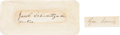 Autographs:U.S. Presidents, Abraham Lincoln: Samples of His Handwriting. ...