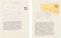 Political:Small Paper (pre-1896), [Abraham Lincoln]: Pair of Letters Dated 1859 and 1860. ...