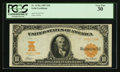 Large Size:Gold Certificates, Fr. 1170a $10 1907 Gold Certificate PCGS Very Fine 30.. ...
