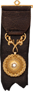 Baseball Collectibles:Others, 1915 Boston Red Sox World Championship Pendant Presented to EverettScott....