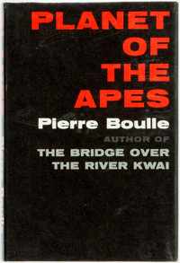Pierre Boulle. Planet of the Apes. New York: Vanguard, [1963]. First American edition. Publishe