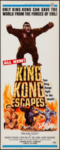 "Movie Posters:Science Fiction, King Kong Escapes (Universal, 1968). Insert (14"" X 36""). ScienceFiction.. ..."
