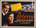 """Movie Posters:Hitchcock, Rebecca (United Artists, R-1946). Half Sheet (22"""" X 28"""") Style B. Hitchcock.. ..."""