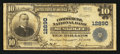 National Bank Notes:Oklahoma, Muskogee, OK - $10 1902 Plain Back Fr. 635 The Commercial NB Ch. # 12890. ...