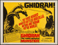 "Movie Posters:Science Fiction, Ghidrah, the Three-Headed Monster (Continental, 1964). Half Sheet(22"" X 28""). Science Fiction.. ..."