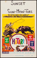 "Movie Posters:Adventure, Hatari! (Paramount, 1962). Window Card (14"" X 22""). Adventure.. ..."