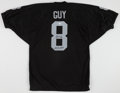 Football Collectibles:Uniforms, Ray Guy Signed Oakland Raiders Jersey....
