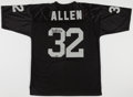 Football Collectibles:Uniforms, Marcus Allen Signed Oakland/Los Angeles Raiders Jersey....