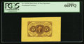 Fractional Currency:First Issue, Fr. 1231SP 5¢ First Issue Wide Margin Face Specimen PCGS Gem New66PPQ.. ...