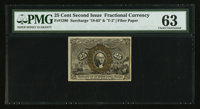 Fr. 1290 25¢ Second Issue PMG Choice Uncirculated 63