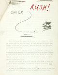 Books:Horror & Supernatural, Donald Westlake. Original Typescript for Cat Killers. Ca. 1960. Nine pages including title page. With manuscript n...