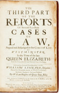 Books:World History, Leonard, William, editor. The Third Part of the Reports ofSeveral Excellent Cases of Law, Argued and Adjudged in theCo...