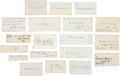 Autographs:Statesmen, [Abraham Lincoln]: Cabinet Member Autographs. ... (Total: 24 Items)