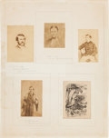 Photography:CDVs, Abraham Lincoln: Booth and His Captors Album Page. ...
