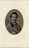 Photography:Tintypes, John Wilkes Booth: Large Tintype on CDV Mount. ...