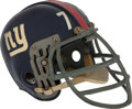 """Football Collectibles:Uniforms, Early 1960's Roosevelt """"Rosey"""" Brown Game Worn New York Giants Helmet...."""