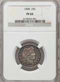 Proof Barber Quarters: , 1898 25C PR65 NGC. NGC Census: (34/71). PCGS Population (26/45). Mintage: 735. Numismedia Wsl. Price for problem free NGC/P...