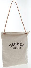 Luxury Accessories:Bags, Hermes Toile & Natural Courchevel Leather Aline Shoulder Bag....