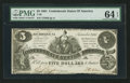Confederate Notes:1861 Issues, T36 $5 1861 PF-2 Cr. 274.. ...