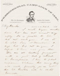 Political:Small Paper (pre-1896), Abraham Lincoln: Two Pieces of New Hampshire Campaign Ephemera....(Total: 2 Items)