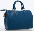 Luxury Accessories:Bags, Louis Vuitton Blue Epi Leather Speedy 25 Bag. ...