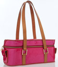 Luxury Accessories:Bags, Louis Vuitton Fuchsia Monogram Vernis Leather Sullivan HorizontalGM Bag. ...