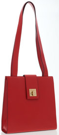 Luxury Accessories:Bags, Celine Red Leather Tote Bag. ...