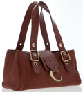 Luxury Accessories:Bags, Chloe Brown Leather Tote Bag with Brushed Gold Hardware . ...