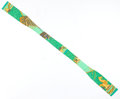 "Luxury Accessories:Accessories, Hermes Green & Gold ""Les Bissone de Venise,"" by Annie FaivreSilk Stole. ..."