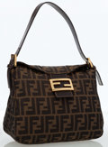 Luxury Accessories:Bags, Fendi Classic Zucca Monogram Shoulder Bag with Gold Hardware . ...