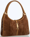 Luxury Accessories:Bags, Gucci Tan Ponyhair & Leather Small Tote Bag with Gold Hardware....
