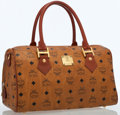 Luxury Accessories:Bags, MCM Cognac Coated Canvas Heritage Boston Bag . ...