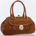 Luxury Accessories:Bags, Marc Jacobs Brown Suede Satchel Bag . ...