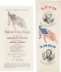 Political:Small Paper (pre-1896), Abraham Lincoln: Ballot and Ribbon. ... (Total: 2 Items)
