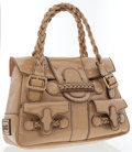 Luxury Accessories:Bags, Valentino Beige Patent Leather Histoire Tote Bag with Gold Hardware. ...