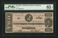 Confederate Notes:1862 Issues, T54 $2 1862. PF-6 Cr. 391. . ...