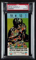 Football Collectibles:Tickets, 1968 Super Bowl II Ticket Stub - Rare Blue Variation, PSA EX 5 (Only Two Graded Higher). ...