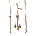Timepieces:Watch Chains & Fobs, Two Lady's Slide Chains & A Chatelaine. ... (Total: 3 Items)