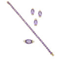 Estate Jewelry:Suites, Amethyst, Gold Jewelry Suite. ... (Total: 4 Items)